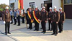 Ehrenzug beim 85-Jahr-Jubiläum