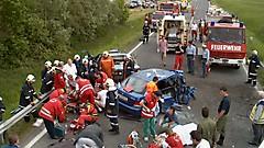 Verkehrsunfall auf B57 2002