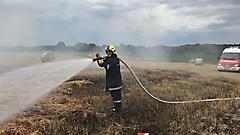 Strohpressenbrand