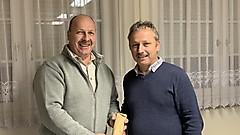 Danke von Reinhold Peischl an Martin Geißegger