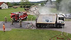 Brand Müll-LKW