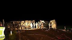 LKW-Bergung auf der B57