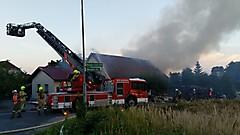 Scheunenbrand in Neuberg