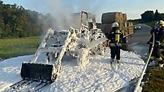 Traktorbrand am Stremer Berg