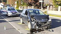 Verkehrsunfall auf der B57