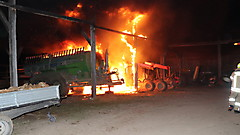 Traktorbrand in Glasing